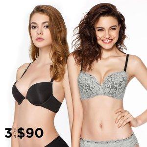 3 For $90Push-Up Bras Sale @ Eve's Temptation