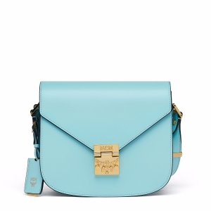Small Patricia Crossbody in Liquid Blue & White