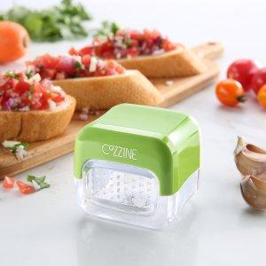 Cozzine 1003 Handheld Garlic Press for Kitchen, 2 Sided Grater