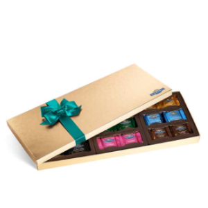Chocolate Lovers Assortment Gift Box with Spring Ribbon (54 pc) | Ghirardelli