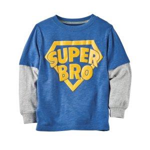 Layered-Look Super Bro Graphic Tee