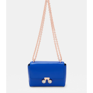 Crystal bobble leather cross body bag - Mid Blue | Bags & Wallets | Ted Baker