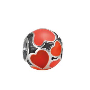 PANDORA Silver Enamel Red Hot Love Charm