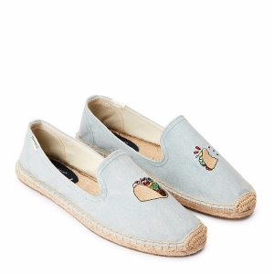 Chambray Taco Embroidered Flat Espadrilles - Century 21