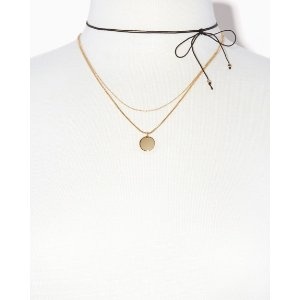 Coin & Cord Necklace Set | Charming Charlie