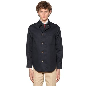 THOM BROWNE - COTTON MACKINTOSH SHIRT JACKET