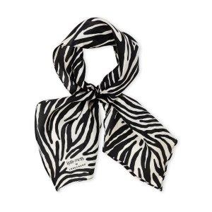Zebra Stripe Silk Scarf - Century 21