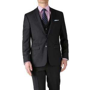 Charcoal slim fit twill business suit | Charles Tyrwhitt