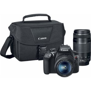 Canon EOS Rebel T6 DSLR Camera with EF-S 18-55mm IS II and EF 75-300mm III lens Black 1159C008 - Best Buy