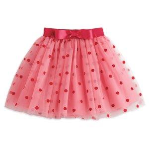 Pink Polka Dot Skirt for Girls