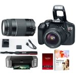 Canon T6 DSLR + 18-55 & 75-300mm Lens + PIXMA Printer