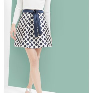Blushing Rose Geo A-line skirt - Navy | Skirts | Ted Baker