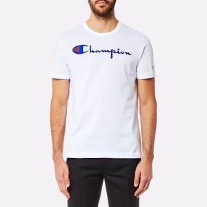 Champion Men's Large Chest Logo Short Sleeve T-Shirt - White