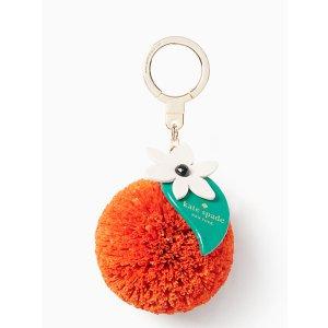 raffia orange keychain | Kate Spade New York