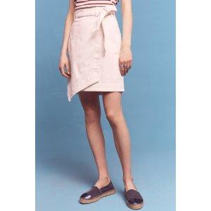 Pilcro Asymmetrical Chino Skirt | Anthropologie