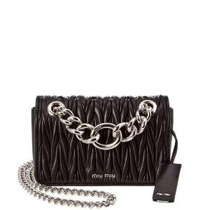 Miu Miu Small Matelasse Chain Leather Shoulder Bag