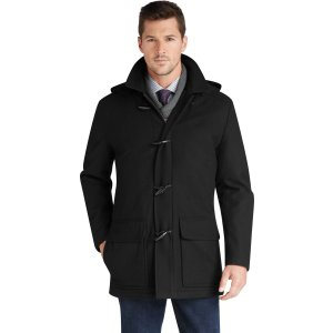 Jos. A. Bank Traditional Fit 3/4 Length Duffle Coat CLEARANCE - Outerwear   Jos A Bank