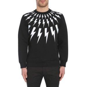 Neil Barrett Thunderbolts Print Straight Bomber Fit Sweatshirt Men - Eleonora Bonucci