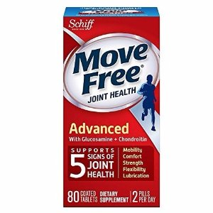 $11.28 Move Free Advanced, 80 tablets - Joint Health Supplement with Glucosamine and Chondroitin