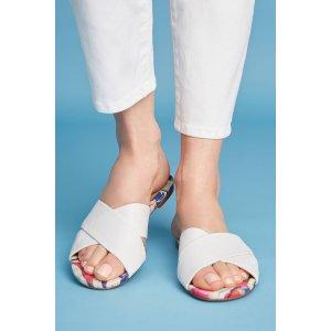 Vicenza Cross Band Slide Sandals | Anthropologie