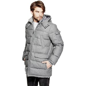Wool-Blend Puffer Jacket at Guess
