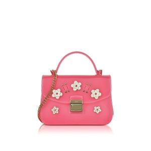 Furla Candy Lilla Rose Jelly Rubber Mini Bag