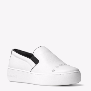 Trent Embellished Leather Slip-On Sneaker