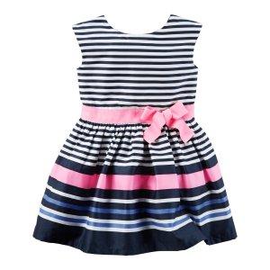 Sateen Striped Dress | Carters.com