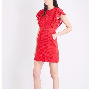 MAJE - Roucoul heart-embroidered silk-blend dress   Selfridges.com