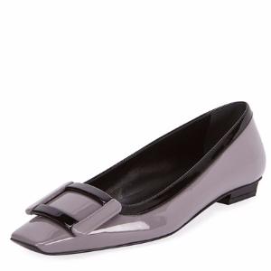 Decbelle Graphic Patent Slip-On Flat, Purple