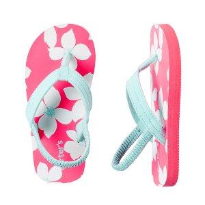 Kid Girl Carter's Tropical Flip Flops | Carters.com