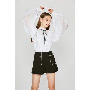 Line Black Casual Shorts PA0610