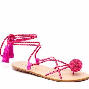 Loeffler Randall | Bo Tassel Wrap Sandal in Azalea | Loeffler Randall