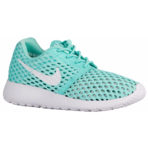 Nike Roshe Run Flight Weight - Girls' Grade School - Running - Shoes - Hyper Turquoise/White