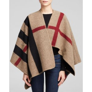 Burberry Mega Check Cape | Bloomingdale's