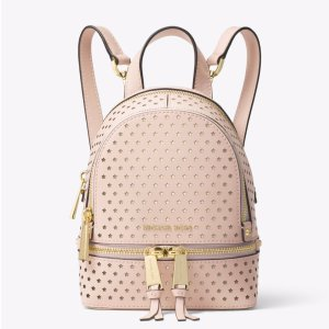 Rhea Mini Perforated Leather Backpack