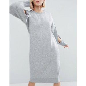 ASOS White | ASOS WHITE Slash Sleeve Sweat Dress