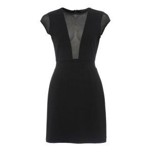 Marie Chiffon Mesh Panelled Mini Dress | Dresses | French Connection Usa