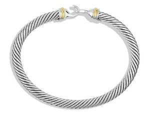 $245.99 David Yurman Women's Cable Buckle Bracelet with Gold Medium Silver & Gold