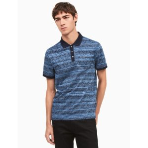 classic fit space-dyed knit polo shirt | Calvin Klein