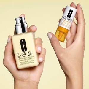 Free 7-piece gift with any $28 purchase+ Choice of Full-Size Step Up with any $55 @ Clinique