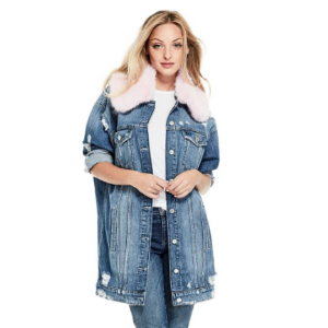 Longline Denim Jacket at Guess