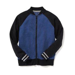 Fleece Bomber Jacket for Boys
