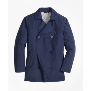 Nylon Pea Coat - Brooks Brothers