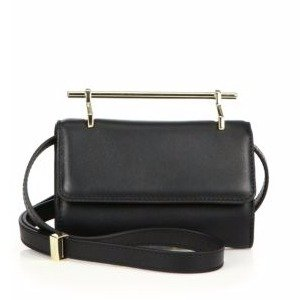 Mini Fabricca Leather Shoulder Bag