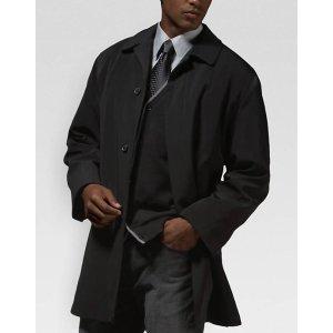 Calvin Klein Black Classic Fit Raincoat - Men's Raincoats   Men's Wearhouse