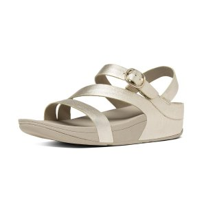 The Skinny Z-Strap Leather Sandals Pale GoldFitFlop Official Online Store