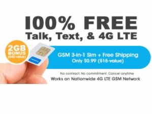 $0.01 + Free ShippingFreedomPop Unlimited Talk, Text, and 2GB LTE 1-mo. Trail