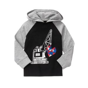 Toddler Boys Black Heart Crane Pullover by Gymboree