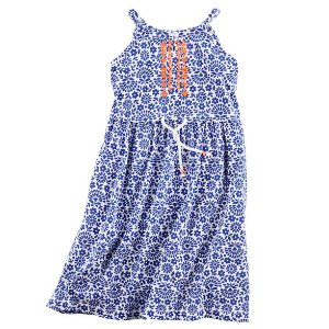 Toddler Girl Jersey Embroidered Maxi Dress | Carters.com